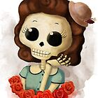 Pretty Skeleton Pin Up Girl by colonelle