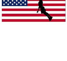 Basketball Dunk American Flag by kwg2200