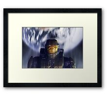 Master chief John-117 Halo Spartan Framed Print