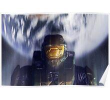 Master chief John-117 Halo Spartan Poster