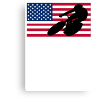 Cycling American Flag Canvas Print
