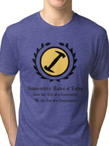 The Simpsons - Stonecutters - Rules of Entry Tri-blend T-Shirt