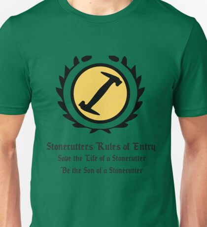 The Simpsons - Stonecutters - Rules of Entry Unisex T-Shirt