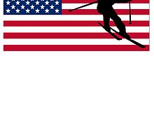 Skiing American Flag by kwg2200