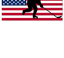 Hockey American Flag by kwg2200