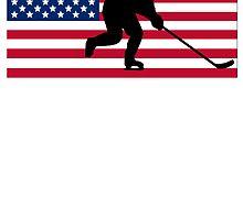 Hockey American Flag by kwg2200