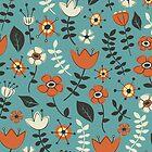 Whimsical Flowers II by Lisa Marie Robinson