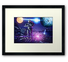 Master chief John-117 Halo rings Spartan  Framed Print
