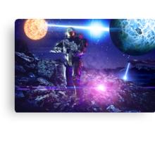 Master chief John-117 Halo rings Spartan  Canvas Print