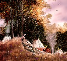 Hunt Camp Evening by Wib Dawson