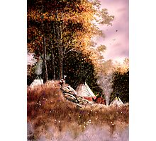 Hunt Camp Evening Photographic Print