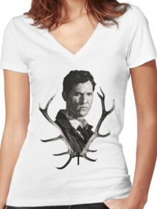 True Detective, TSHIRT  Women's Fitted V-Neck T-Shirt