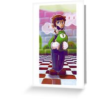 Luigi, what's so funny? Greeting Card