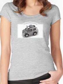 Our Lady of Perpetual Driving by Elaine Luther Women's Fitted Scoop T-Shirt