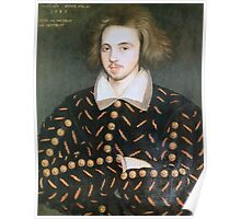 Portrait of nobleman, perhaps Christopher Marlowe Poster