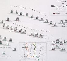 Plan of the Battle of Cape St. Vincent by Bridgeman Art Library