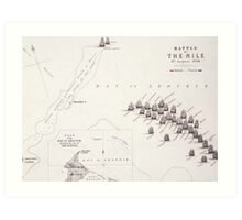 Plan of the Battle of the Nile Art Print
