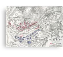 Battle of Waterloo Canvas Print