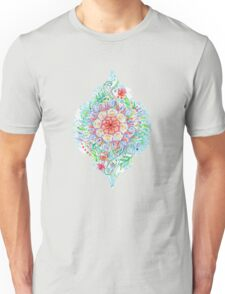 Messy Boho Floral in Rainbow Hues Unisex T-Shirt