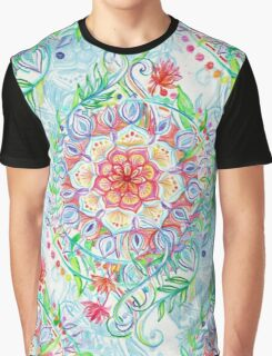 Messy Boho Floral in Rainbow Hues Graphic T-Shirt