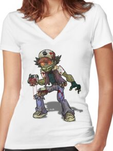 Zombie Ash (Pokemon) Women's Fitted V-Neck T-Shirt