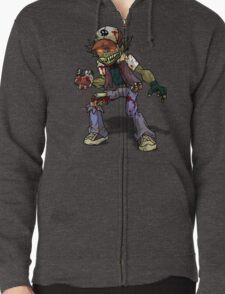 Zombie Ash (Pokemon) Zipped Hoodie