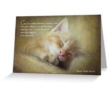 Ode to a sleepy cat Greeting Card