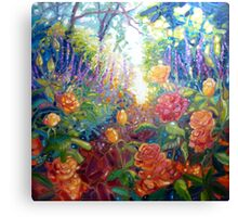 Mad English Summer Garden Canvas Print