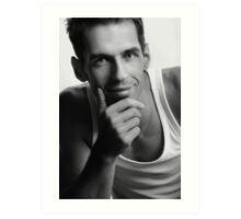 Handsome man Art Print