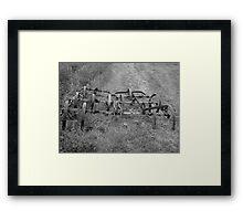 Old Farm Equipment Framed Print