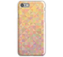 Abstract background from triangles in shades of beige iPhone Case/Skin