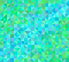 Abstract background in shades of blue and green by amovitania