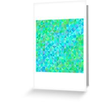 Abstract background in shades of blue and green Greeting Card
