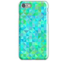 Abstract background in shades of blue and green iPhone Case/Skin