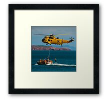 Rescue Practice at Dawlish Airshow Framed Print