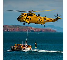 Rescue Practice at Dawlish Airshow Photographic Print