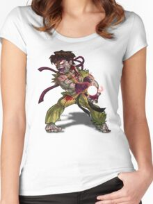 Zombie Ryu (Street Fighter) Women's Fitted Scoop T-Shirt