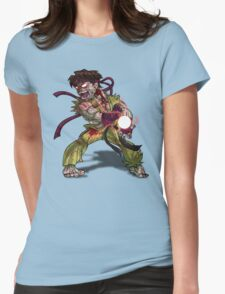 Zombie Ryu (Street Fighter) Womens Fitted T-Shirt