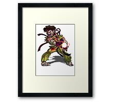Zombie Ryu (Street Fighter) Framed Print