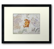 Constellation of Cancer Framed Print