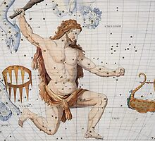 Constellation of Hercules with Corona and Lyra by Bridgeman Art Library