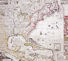 A Map of the British Empire in America with the French settlements adjacent thereto by Bridgeman Art Library