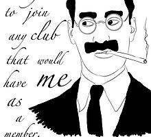 Groucho Marx by nordensoul
