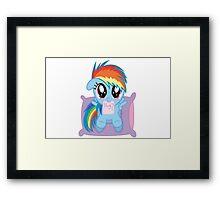 Rainbow Dash Hug Framed Print