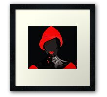Ah, you thought that i was  one that you  can forget... Framed Print