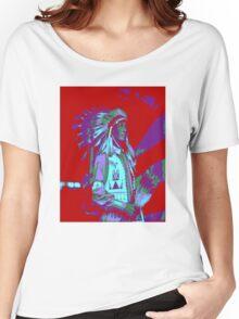 Indian Chief Pop Art Women's Relaxed Fit T-Shirt