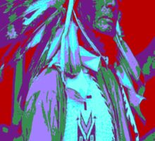 Indian Chief Pop Art Sticker