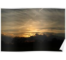 Sunset over Hyde Park  Poster