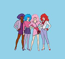 Jem and The Holograms - Group #1 Blue - Tablet & Phone Cases by DGArt