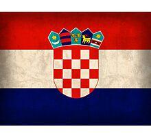 Croatia Flag Photographic Print